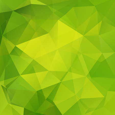Illustration for Abstract background consisting of green triangles. Geometric design for business presentations or web template banner flyer. Vector illustration - Royalty Free Image