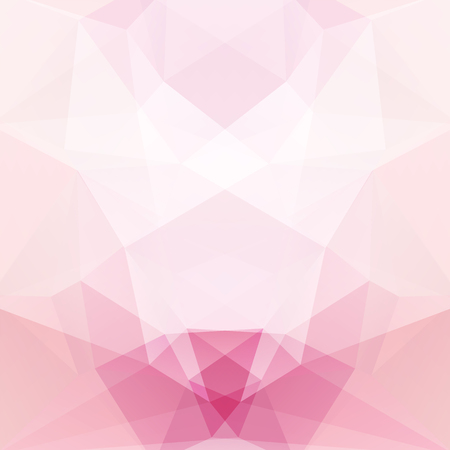 Illustration pour Background made of pastel pink, white triangles. Square composition with geometric shapes. - image libre de droit
