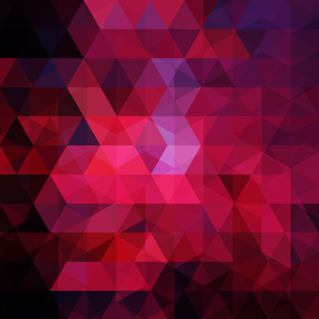 Photo pour Abstract background consisting of red, purple triangles. Geometric design for business presentations or web template banner flyer. Vector illustration - image libre de droit