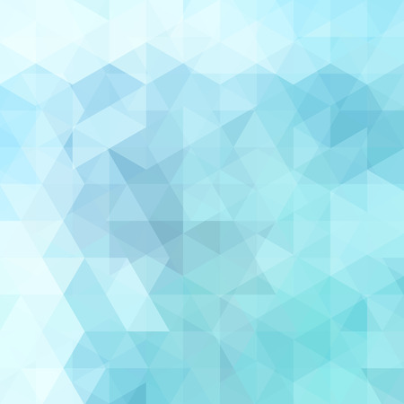 Illustration for Abstract background consisting of pastel blue triangles. Geometric design for business presentations or web template banner flyer. Vector illustration - Royalty Free Image