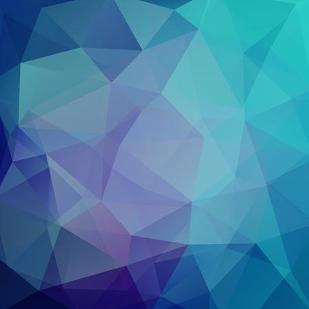 Illustration for Background of geometric shapes. Blue mosaic pattern. Vector illustration - Royalty Free Image