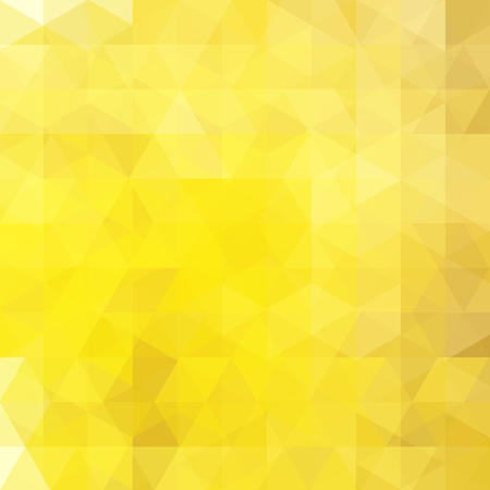 Illustration for Yellow abstract mosaic background. Triangle geometric background. Design elements. Vector illustration - Royalty Free Image