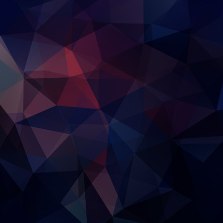 Illustration for Background made of dark blue, purple triangles. Square composition with geometric shapes. - Royalty Free Image