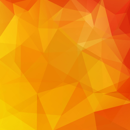 Illustration for Abstract background consisting of yellow, orange triangles. Geometric design for business presentations or web template banner flyer. Vector illustration - Royalty Free Image