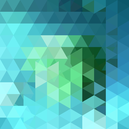 Illustration for Triangle vector background. Can be used in cover design, book design, website background. Vector illustration. Green, blue colors. - Royalty Free Image