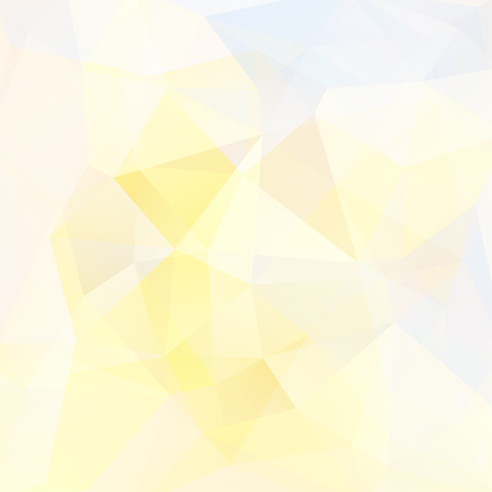 Illustration pour Abstract background consisting of white, yellow triangles. Geometric design for business presentations or web template banner flyer. Vector illustration - image libre de droit