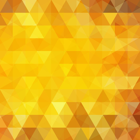 Illustration for Geometric pattern, triangles vector background in yellow, orange tones. Illustration pattern - Royalty Free Image