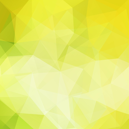 Illustration for Background made of yellow, green triangles. Square composition with geometric shapes. - Royalty Free Image