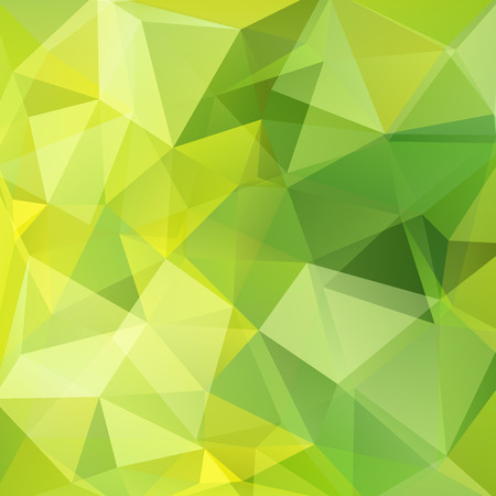 Illustration pour Geometric pattern, polygon triangles vector background in green, yellow tones. Illustration pattern - image libre de droit