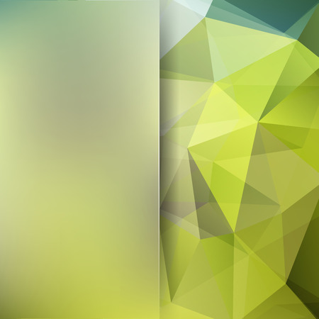 Illustration pour Abstract polygonal vector background. Green geometric vector illustration. Creative design template. Abstract vector background for use in design - image libre de droit
