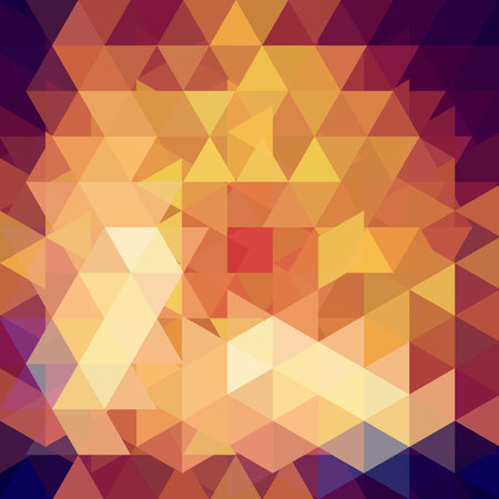 Illustration pour Triangle vector background. Can be used in cover design, book design, website background. Vector illustration. Yellow, brown colros. - image libre de droit