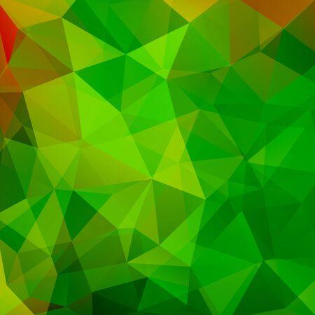 Illustration pour Geometric pattern, polygon triangles vector background in green Â' tones. Illustration pattern - image libre de droit