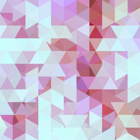Illustration for Background of blue, pink geometric shapes. Abstract triangle geometrical background. Mosaic pattern. Vector EPS 10. Vector illustration - Royalty Free Image