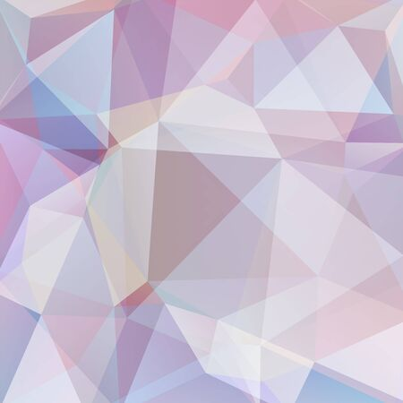 Abstract polygonal vector background. Geometric vector illustration. Creative design template. Pastel pink, beige colors.