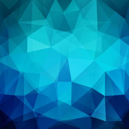 Illustration for Geometric pattern, polygon triangles vector background in blue tones. Illustration pattern - Royalty Free Image