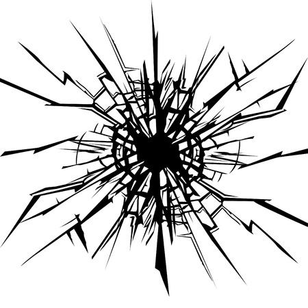 Cracks in the  glass.