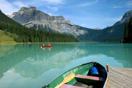Boat rental in Emerald Lake, Canadian Rockies