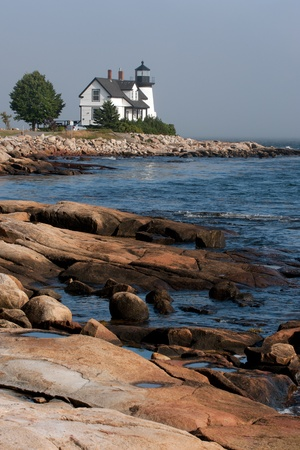 Prospect Harbor Point lighthouse in northern Maine