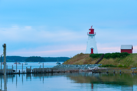 Mulholland lighthouse on Campobello island between Canada and USA