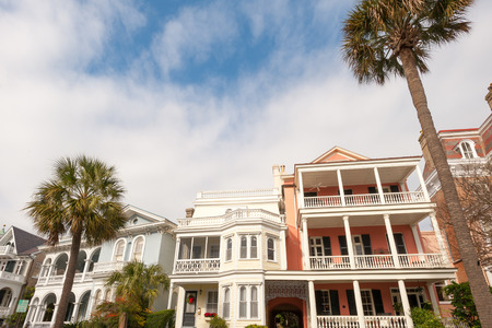 Historic houses along Battery st in Charleston, SC