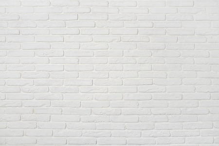 Photo for White brick wall texture. May use as background. - Royalty Free Image