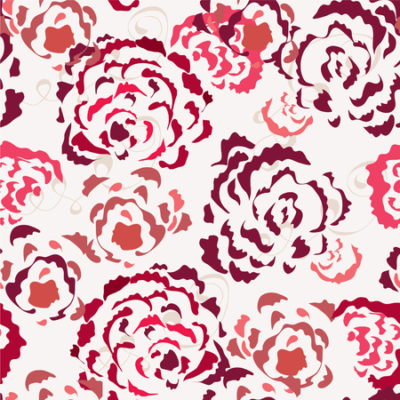 Roses seamless wallpaper in red colors