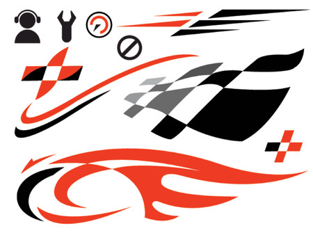 Illustration pour vector icons related to speed and racing - image libre de droit