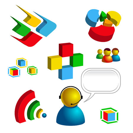 web and technology related vector isolated icons