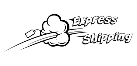 Illustration pour express shipping vector icon. Ideal for delivery and courier usage - image libre de droit