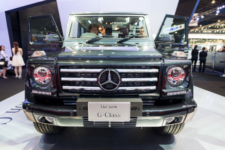 BANGKOK - MARCH 25 : Mercedes Benz new G Class on display at The 35th Bangkok International Motor Show on March 25, 2014 in Nonthaburi, Thailand.