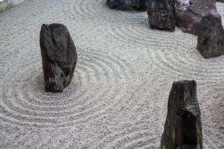 japanese zen stone pebble garden texture