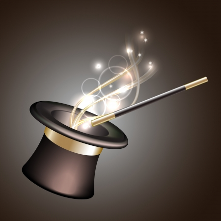 Illustration pour Magic hat background  Vector illustration - image libre de droit