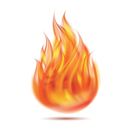 Symbol of fire on white background illustration