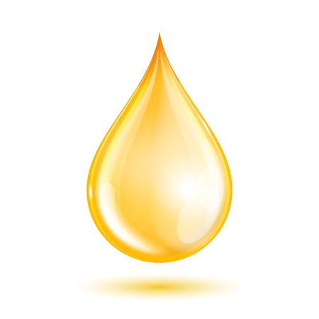 Drop of oil isolated on white background. Vector illustration