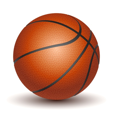 Vector Basketball isolated on a white background.