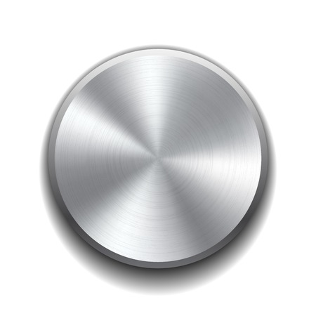 Realistic metal button with circular processing