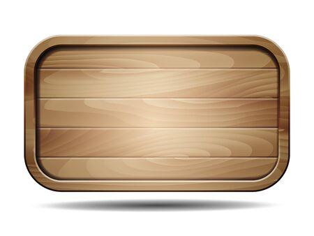 Illustration pour Vector realistic illustration of wooden signboard on white - image libre de droit