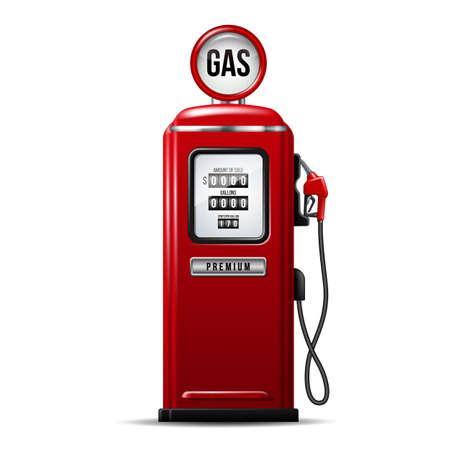 Illustration pour Red bright Gas station pump with fuel nozzle of petrol pump. - image libre de droit