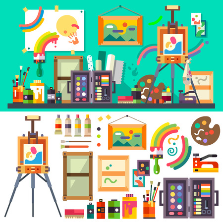 Art studio tools for creativity and design