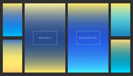 Ilustración de Bright blue and yellow gradients for smartphone screen backgrounds. Set of soft deep nature sky color vibrant wallpaper for mobile apps, ui design, banner - Imagen libre de derechos
