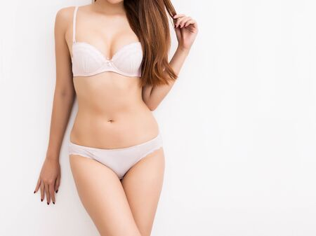 Photo for Beautiful slim body of woman in studio - Royalty Free Image
