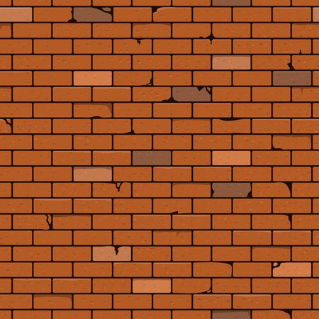 Illustration for Brick Wall Seamless Pattern Background. Vector Illustration. - Royalty Free Image