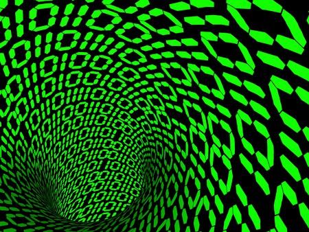 binary code. 3d