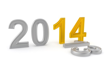 Happy New Year 2014  3d