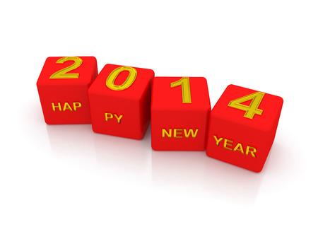 Happy New Year 2014. 3d