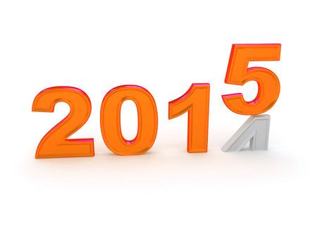 Happy New Year 2015. 3d