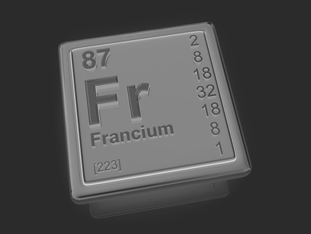 Francium. Chemical element. 3d