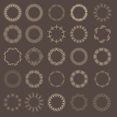 Guilloche vector elements.