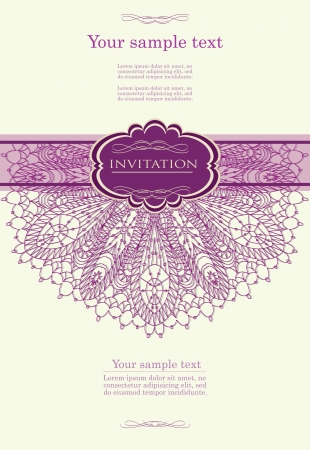 Beautiful purple invitation card