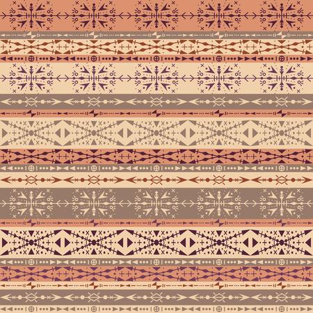 Ilustración de Brown tribal seamless pattern with ethnic ornaments - Imagen libre de derechos